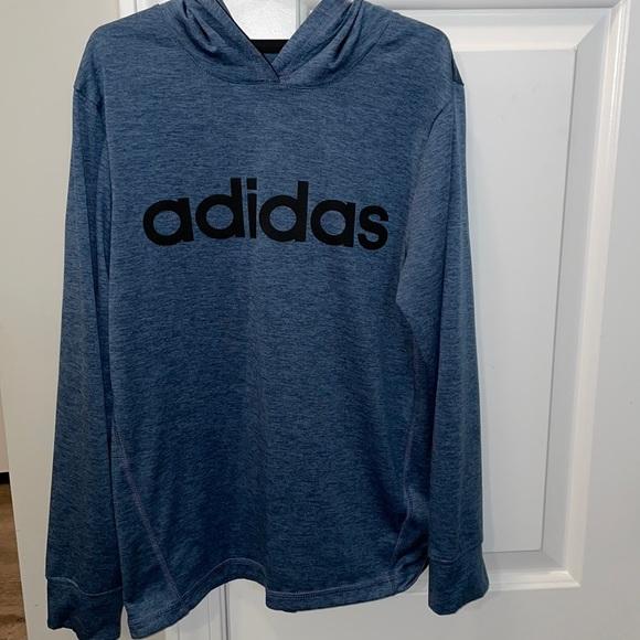 Boys Adidas long sleeve with hood